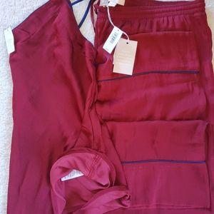 Gap  Pajama Set Dreamwell Satin Cami /Crop Pants